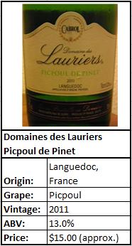 Domaines des Lauriers Picpoul de Pinet